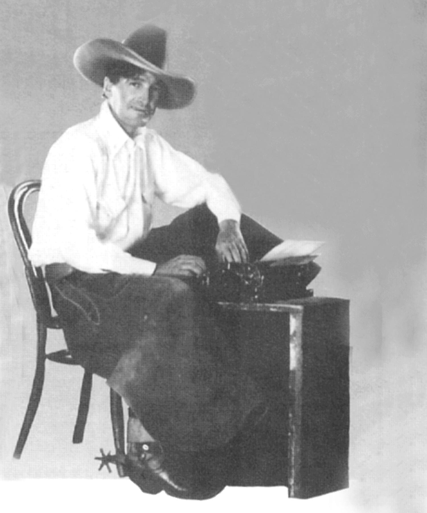 Will James At Typewriter Will James Society | Gardnerville Nevada